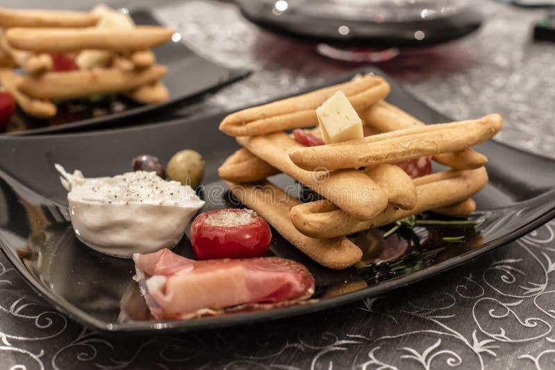 Alimento y vino italianos foto de archivo libre de regalías