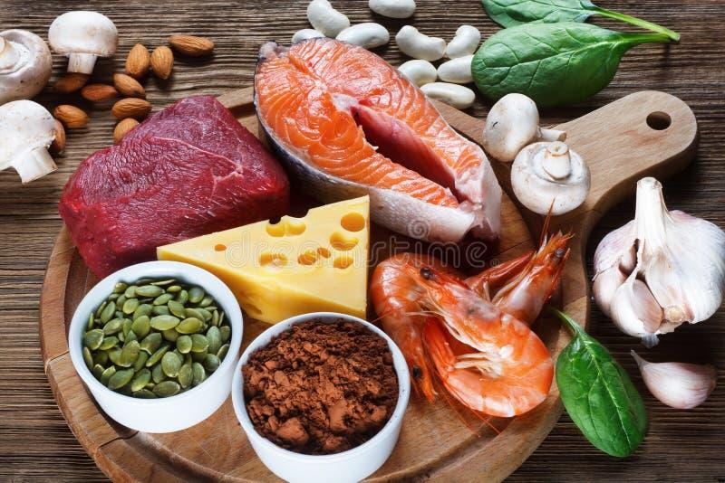 Alimentos altos no zinco fotos de stock royalty free