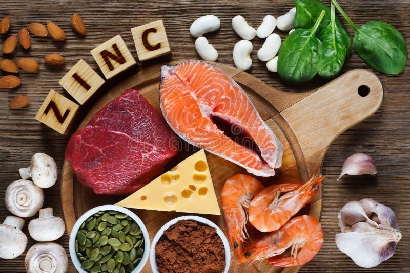 Alimentos altos no zinco imagem de stock royalty free
