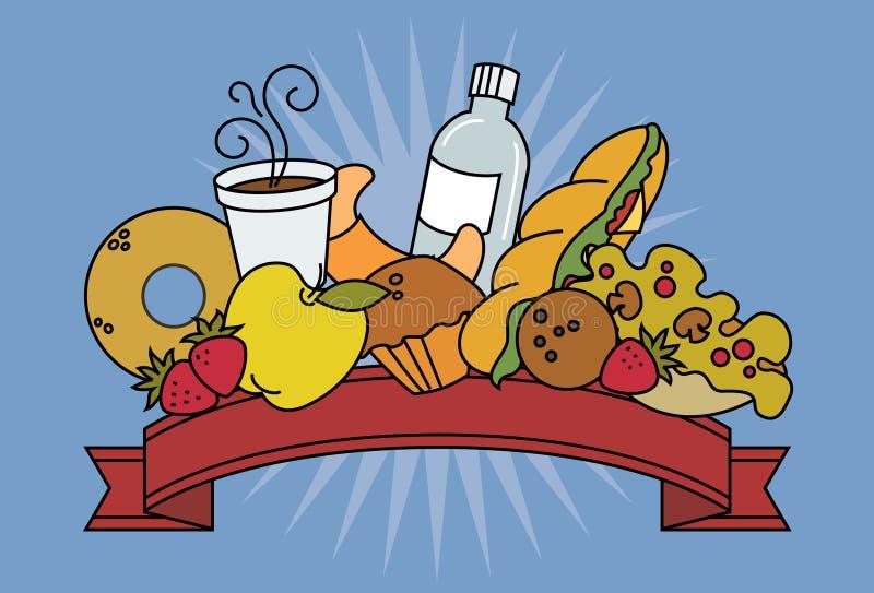 Alimentos da loja imagens de stock