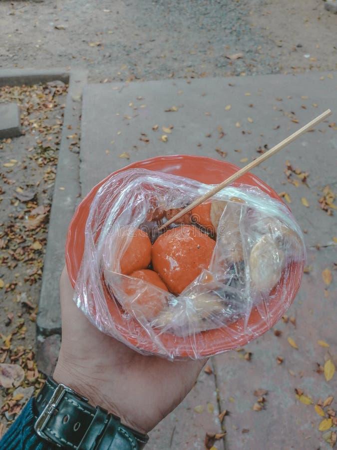 Alimentos da rua fotografia de stock