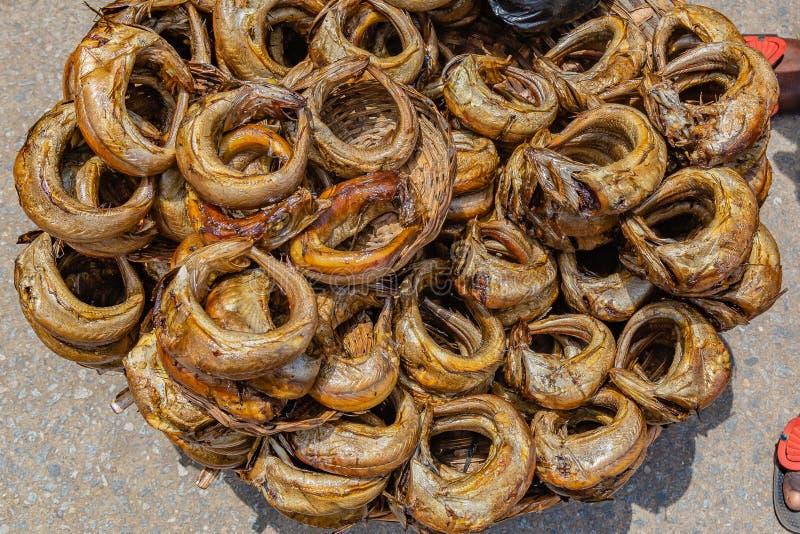 Alimentos da rua em Lagos Nigéria imagem de stock royalty free