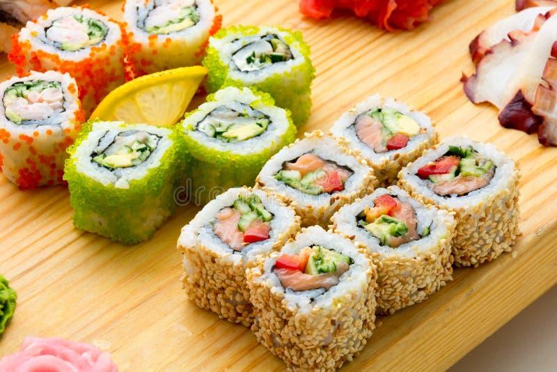 Alimentos de marisco asiáticos fotos de archivo
