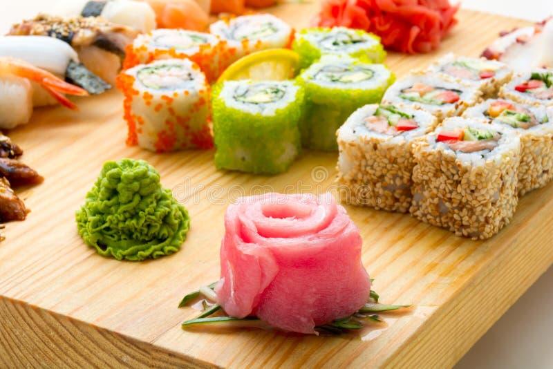 Alimentos de marisco asiáticos fotografía de archivo