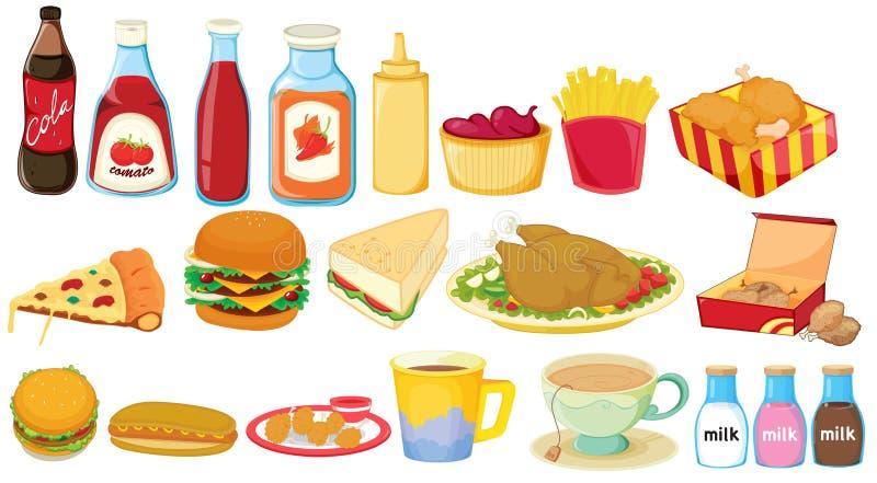 Alimentos de petisco ilustração stock