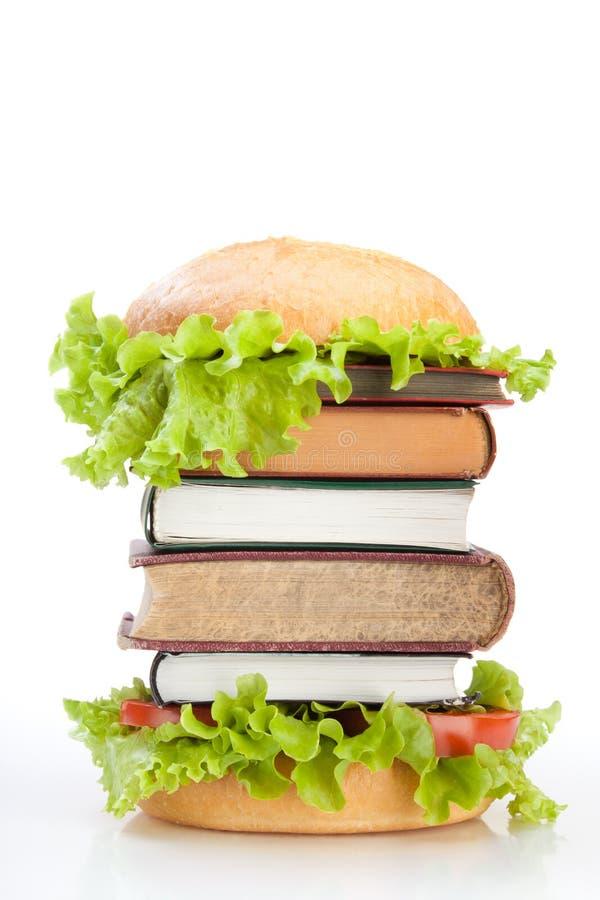 Alimentos de preparación rápida de la educación imagen de archivo
