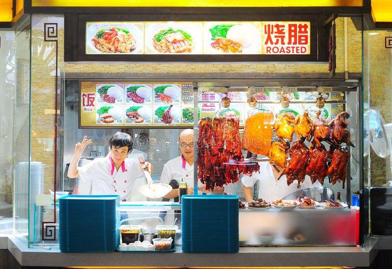 Alimentos de preparación rápida de Singapur foto de archivo libre de regalías