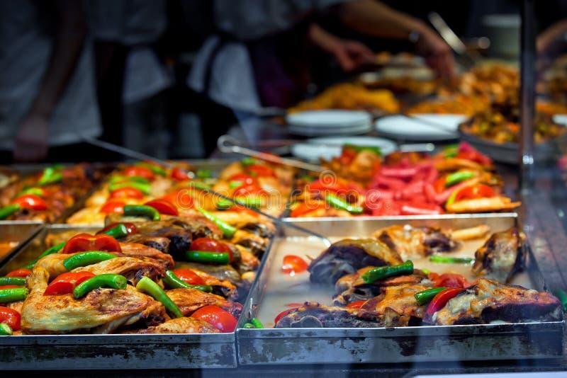 Alimentos de preparación rápida en Estambul foto de archivo libre de regalías