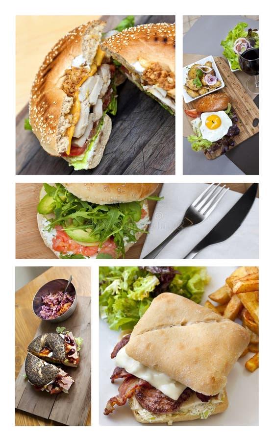 Alimentos de preparación rápida y hamburguesas imagen de archivo libre de regalías