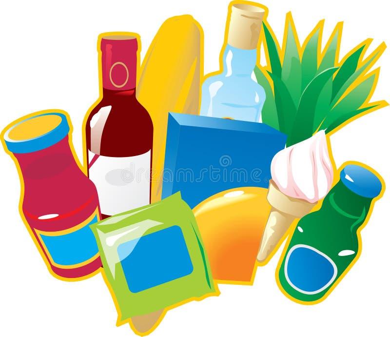Alimentos e bebidas. ilustração do vetor