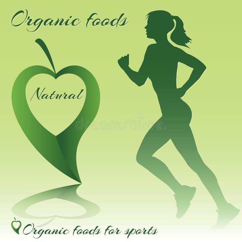Alimentos orgânicos para o esporte fotografia de stock