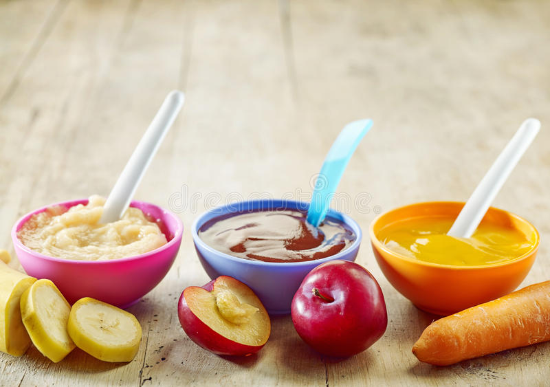 Alimentos para niños imagen de archivo libre de regalías