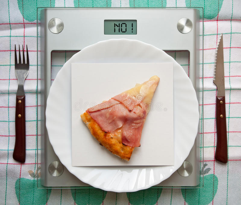 Alimentos proibidos imagem de stock