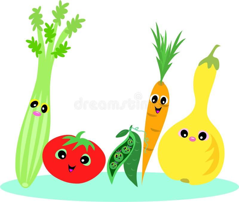 Alimentos saudáveis ilustração royalty free