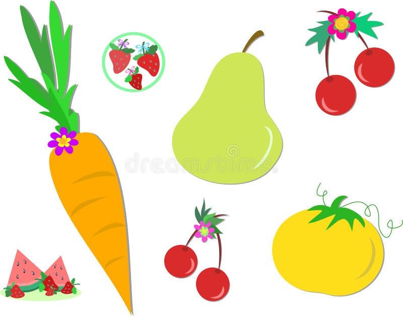 Alimentos saudáveis ilustração stock