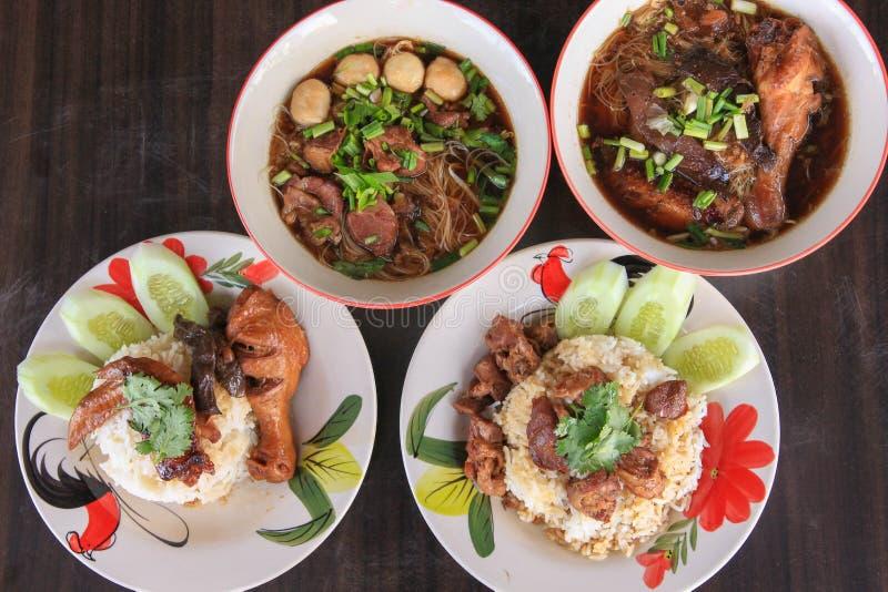 Alimentos tailandeses imagen de archivo