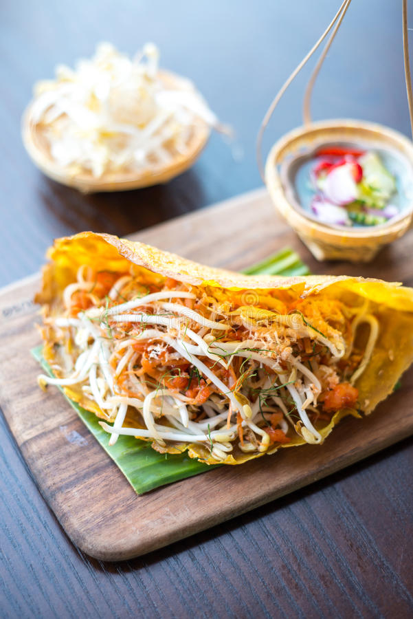 Alimentos tailandeses Petisco tradicional fotos de stock