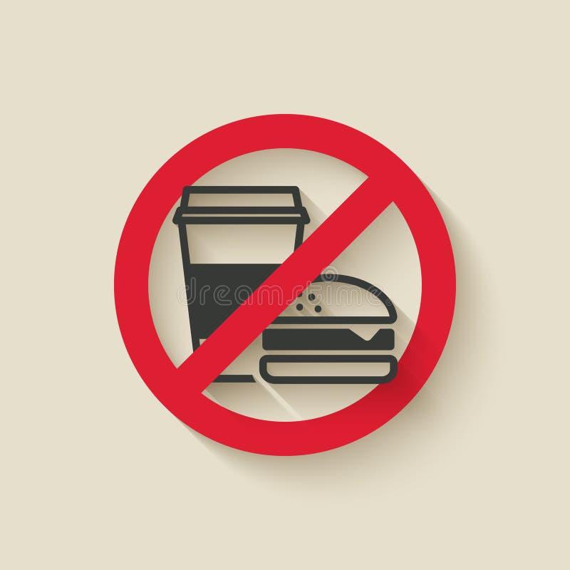 Aliments de préparation rapide aucun signe illustration stock