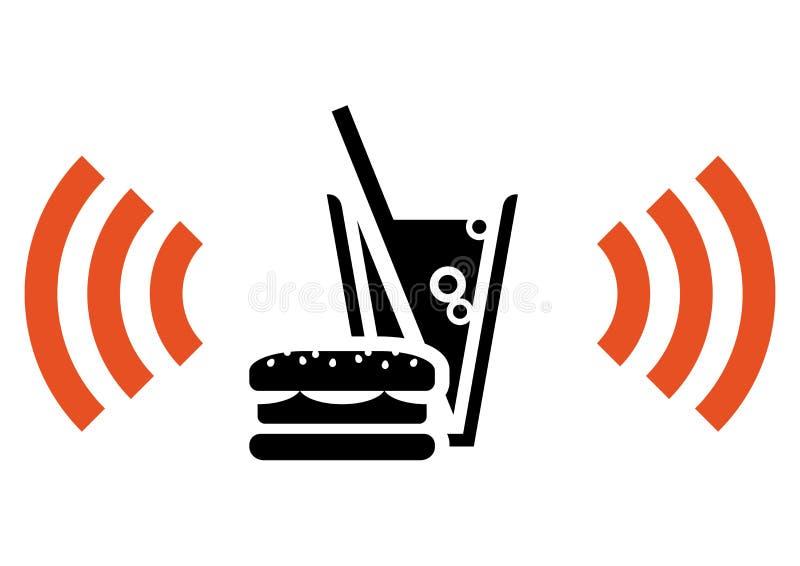 Aliments de préparation rapide avec Wi-Fi illustration de vecteur