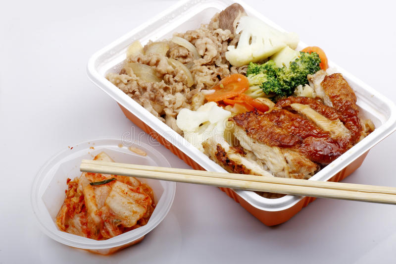 Aliments de préparation rapide chinois image stock
