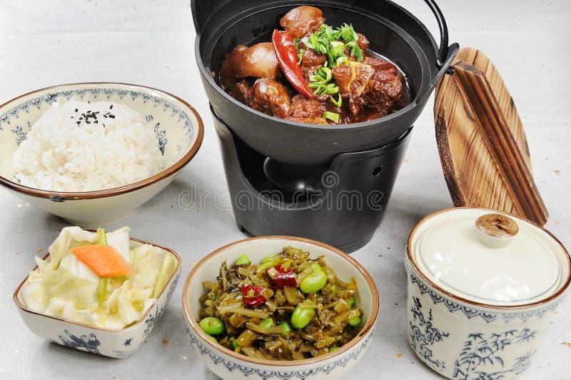 aliments de préparation rapide chinois images stock