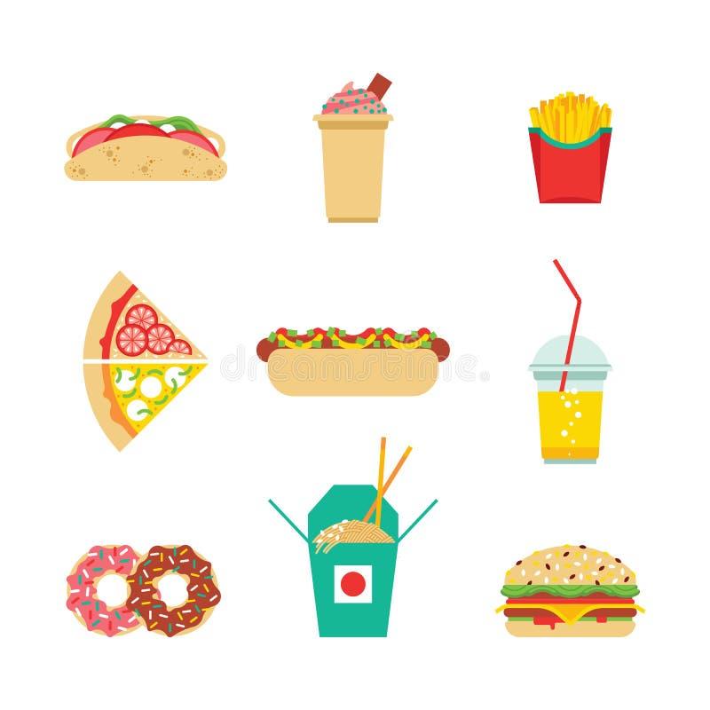 Aliments de préparation rapide de nourriture industrielle illustration stock