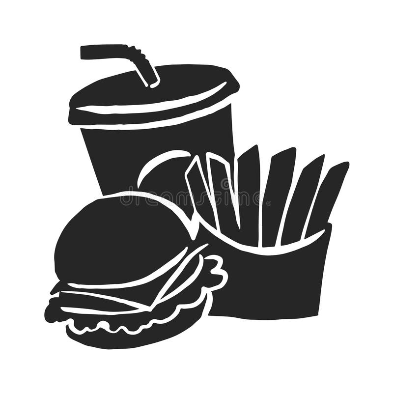 Aliments de préparation rapide graphiques, vecteur illustration de vecteur