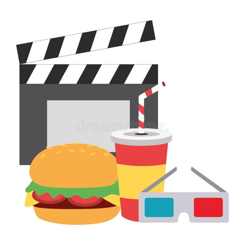 Aliments de pr?paration rapide de cin?ma illustration libre de droits