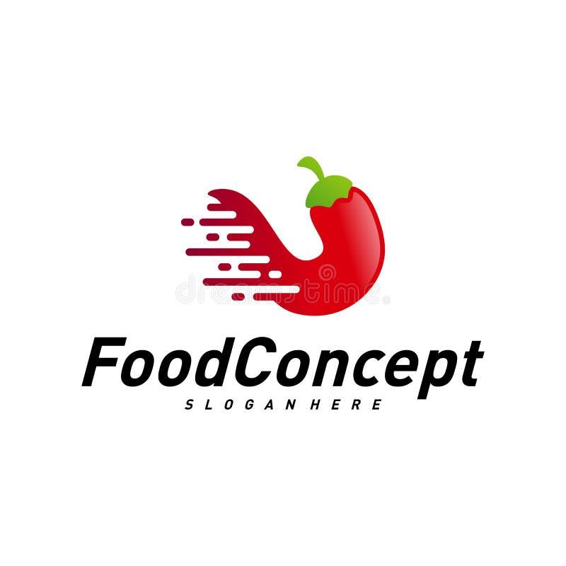 Aliments de pr?paration rapide Logo Concept Vector r r illustration stock