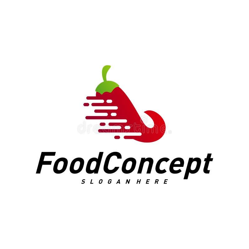 Aliments de pr?paration rapide Logo Concept Vector r r illustration de vecteur