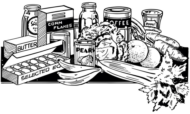 Aliments sains illustration stock