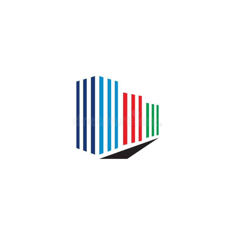 Alinea concepto de diseño del logotipo del edificio de las propiedades inmobiliarias stock de ilustración