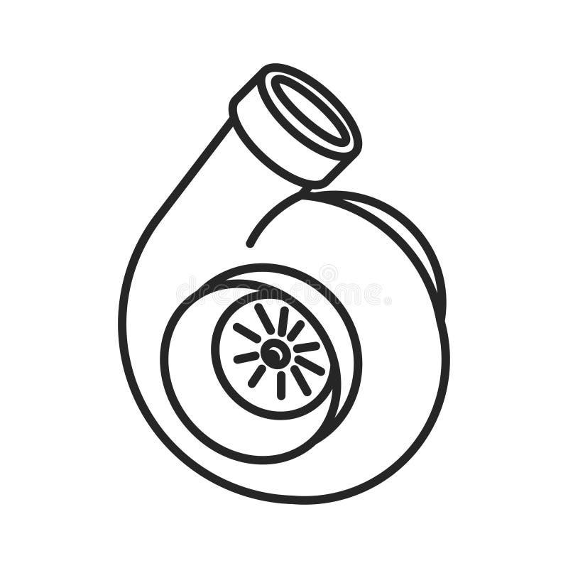Alinea el icono de la turbina stock de ilustración