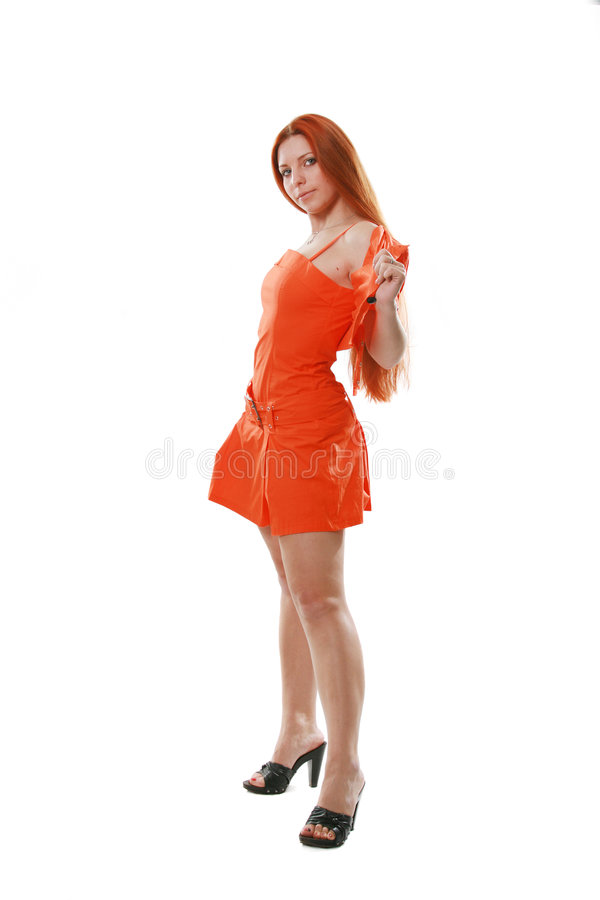 Alineada anaranjada imagenes de archivo