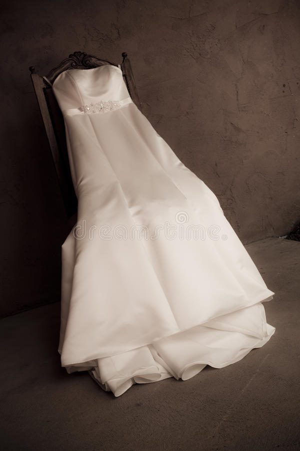 Alineada de boda blanca foto de archivo libre de regalías