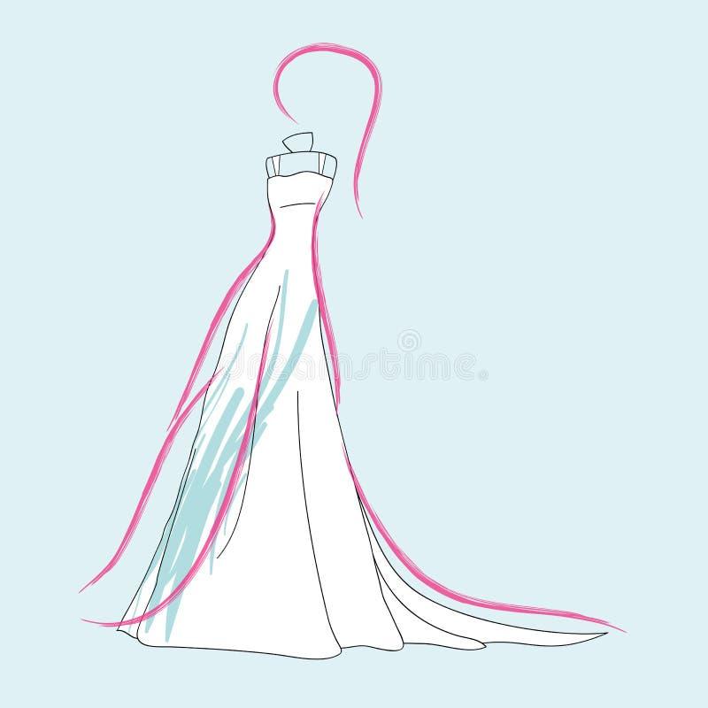 Alineada de boda de la manera libre illustration