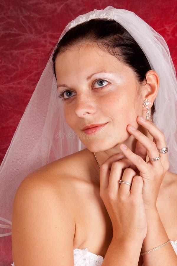 Alineada de boda en modelo de manera foto de archivo
