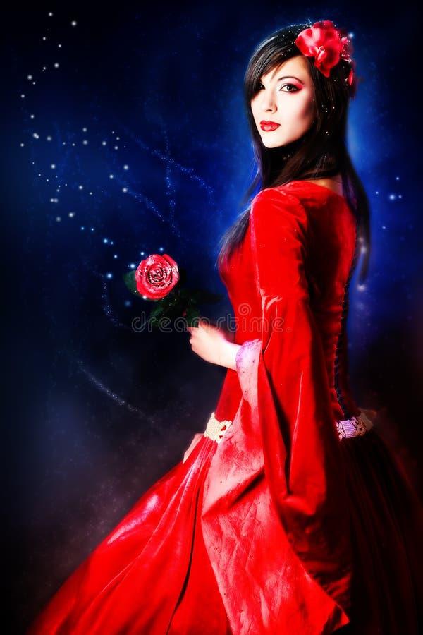 Alineada roja fotografía de archivo