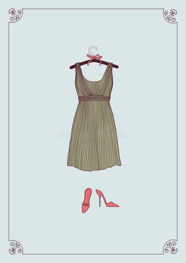 Alineada y zapatos stock de ilustración