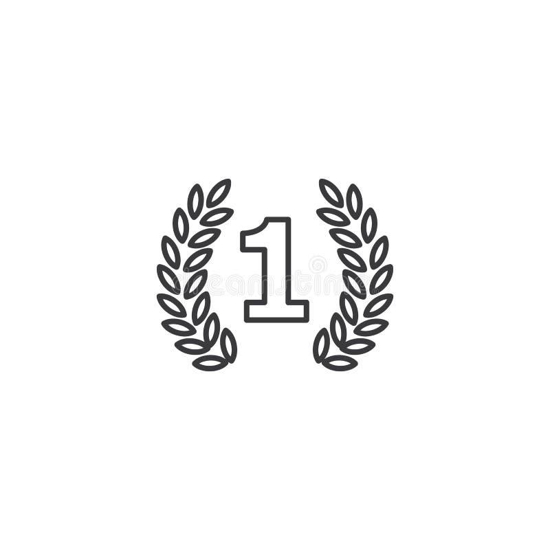 Alinee el primer icono del lugar en el fondo blanco stock de ilustración