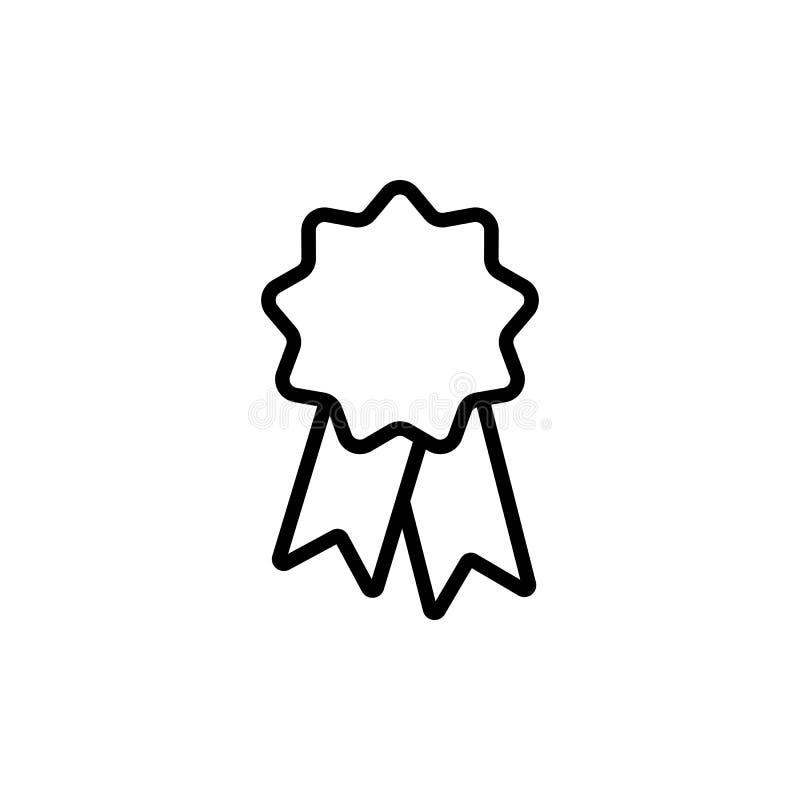 alinee la etiqueta engomada de la cinta, icono de la insignia en el fondo blanco stock de ilustración