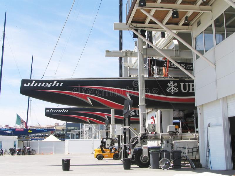 Download Alinghi, America's cup editorial stock photo. Image of team - 18846803
