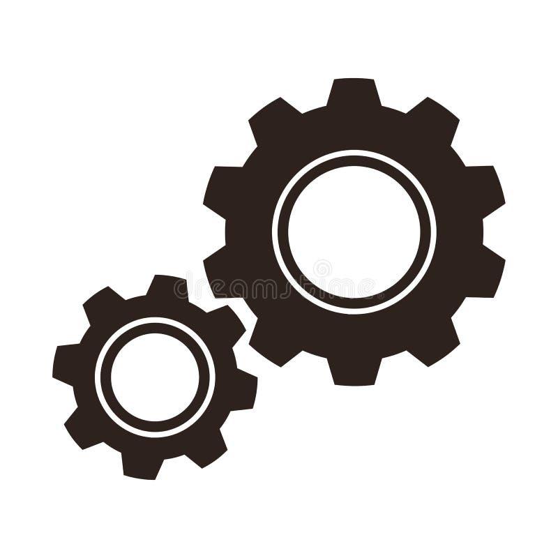 Alinha o ícone (das rodas denteadas) ilustração do vetor