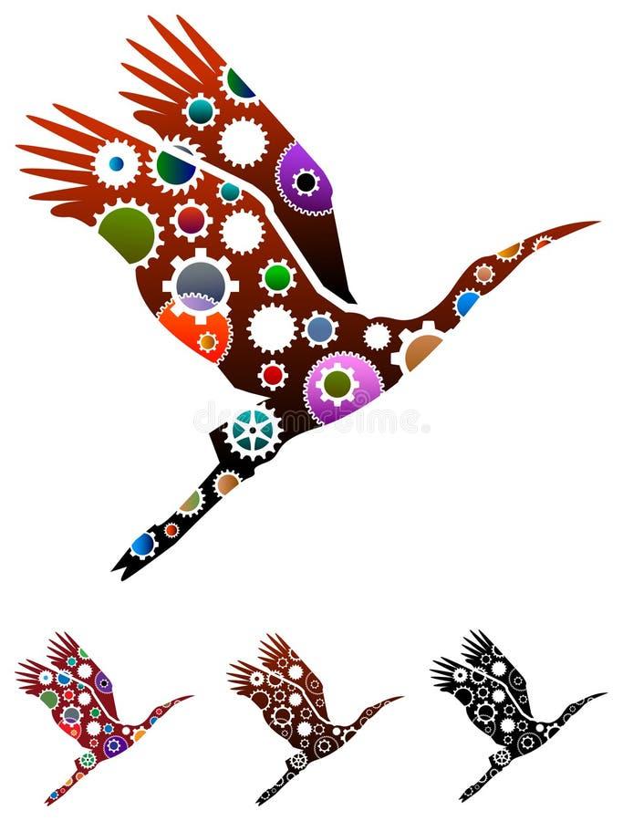 Alinha pássaros ilustração do vetor