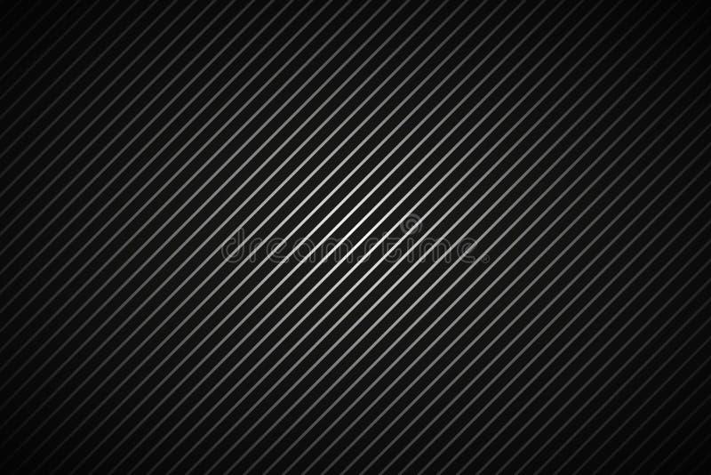 Alinhador longitudinal listrado metálico abstrato escuro do fundo, o preto e o cinzento ilustração royalty free