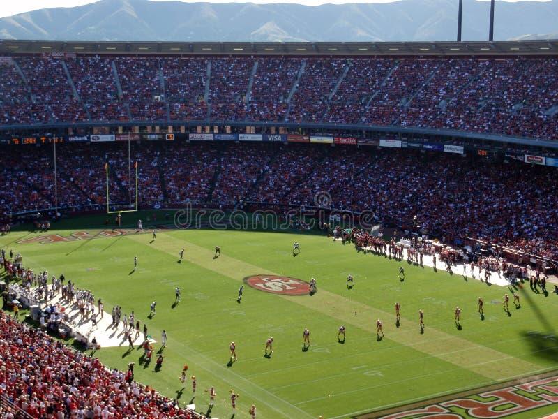 alinhamento 49ers pronto para após o pontapé de contabilização imagens de stock