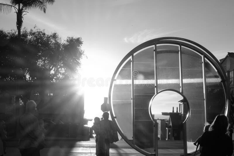 Alinhamento da porta da luz de Manhattan Beach imagem de stock