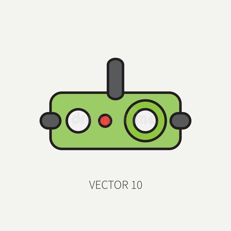 Alinhe o ícone militar da cor lisa - dispositivo de visão noturna Equipamento e armas do exército Estilo dos desenhos animados as ilustração stock