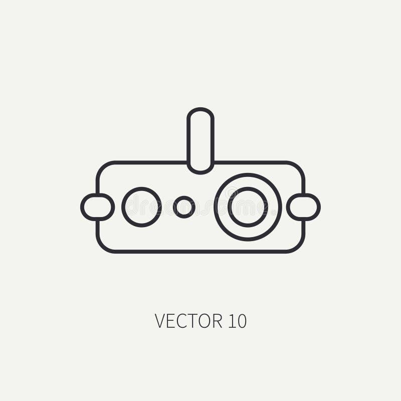 Alinhe o ícone militar do vetor liso - dispositivo de visão noturna Equipamento e armas do exército assalto soldados armamento ilustração stock