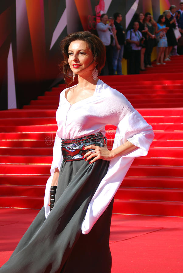 Alisa Khazanova au festival de film de Moscou photos libres de droits